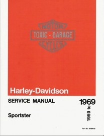 1959 to 1969 Harley Davidson Sportster 900 (XL, XLH, XLCH) Service Manual
