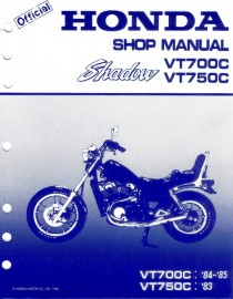 1985 Honda Shadow VT700C Service Manual