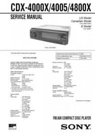 CDX-4800X Service Manual
