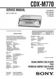 CDX-M770 Service Manual