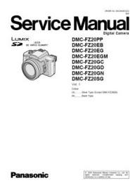 Lumix DMC-FZ20 Service Manual