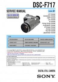 Cybershot DSC-F717 Service Manual