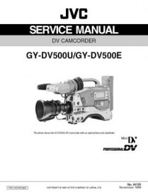 GY-DV500 Service Manual