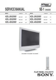 KDL-26U2000 Service Manual