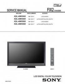 KDL-46W3000 Service Manual