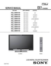 KDL-46W4100 Service Manual