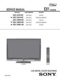 KDL-52V4100 Service Manual
