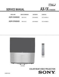 KDP-51WS655 Service Manual