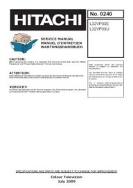 L32VP03E Service Manual