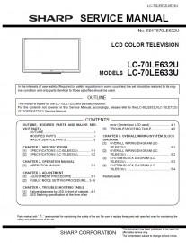 LC-70LE633U Service Manual