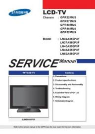 LN32A550P3F Service Manual