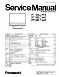 PT-44LCX65 Service Manual
