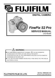 Finepix S2 Pro Service Manual